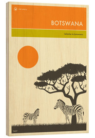 Wood print  Botswana - Jazzberry Blue