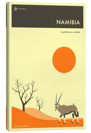 Canvas  Namibia Travel Poster - Jazzberry Blue