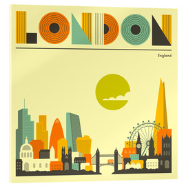 Acrylic glass  London Skyline - Jazzberry Blue