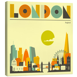 Canvas print  London skyline - Jazzberry Blue