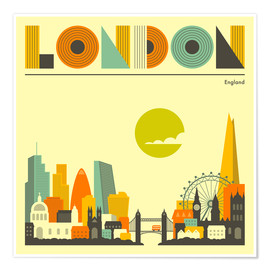 Poster  London Skyline - Jazzberry Blue