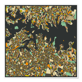 Premium poster  Sydney Map - Jazzberry Blue