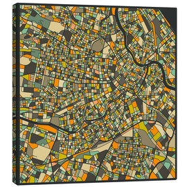 Canvas print  Vienna Map - Jazzberry Blue
