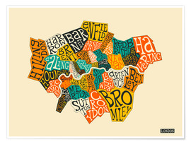 Premium poster London Boroughs