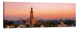 Canvas print  Panoramic of Wat Arun temple at sunset, Bangkok, Thailand - Matteo Colombo