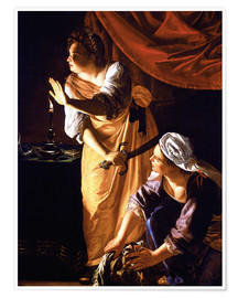 Premium poster Judith with head of Holofernes