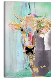 Canvas print  Cow collage - GreenNest