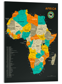 Acrylic print  Africa Map - Jazzberry Blue