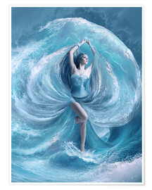 Premium poster  Sea dress - Elena Dudina