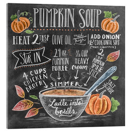 Acrylic print  Pumpkin soup recipe - Lily & Val
