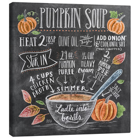 Canvas print  Pumpkin soup recipe - Lily & Val