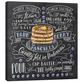 Canvas print  Blueberry pancakes recipe - Lily & Val