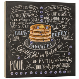 Wood print  Blueberry pancakes recipe - Lily & Val