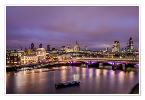 Premium poster London Skyline Night