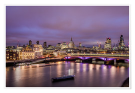 Premium poster  London Skyline Night - Sören Bartosch