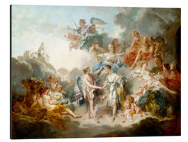 Aluminium print  Cupid and Psyche celebrate wedding - François Boucher