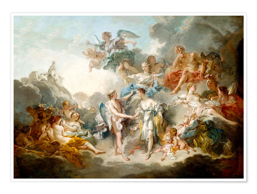 Premium poster Cupid and Psyche celebrate wedding
