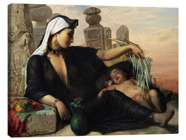 Canvas print  Egyptian fellah woman - Elisabeth Jerichau Baumann