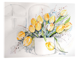 Acrylic print  Tulips by the window - Maria Földy