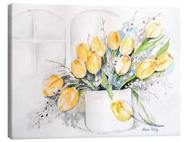 Canvas  Tulips by the window - Maria Földy