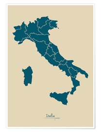 Premium poster Map of Italy
