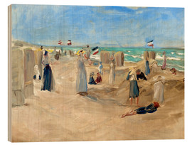Wood print  On the beach in Noordwijk - Max Liebermann