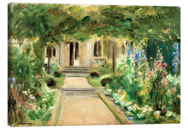 Canvas print  View from the Kitchen Garden - Max Liebermann