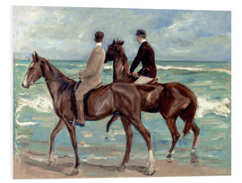 Foam board print  Two riders on the beach - Max Liebermann