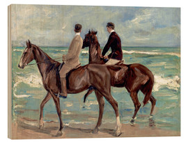 Wood print  Two riders on the beach - Max Liebermann