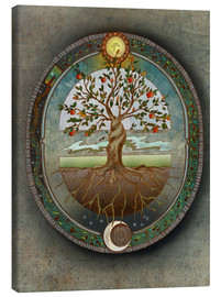 Canvas  Orobouros - Tree of Life - Brenda Erickson