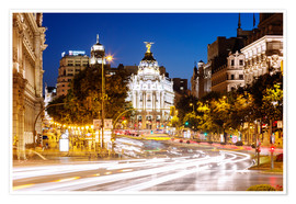 Premium poster  Madrid city at night - Matteo Colombo