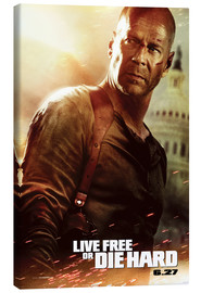 Canvas print  Live Free or Die Hard - Entertainment Collection