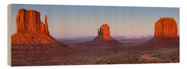 Wood print  Monument Valley IV - Rainer Mirau