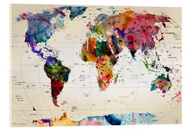 Acrylic print  Map of the world - Mark Ashkenazi