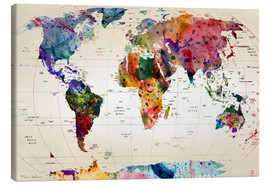 Canvas print  Map of the world - Mark Ashkenazi