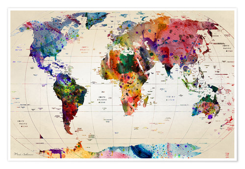 Map Of The World Posters And Prints Posterlounge Com