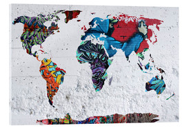 Acrylic print  map graffiti - Mark Ashkenazi