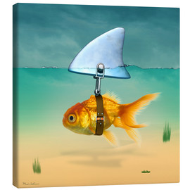 Canvas  gold fish - Mark Ashkenazi