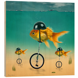 Wood print  gold fish - Mark Ashkenazi
