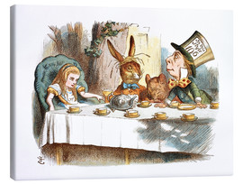 Canvas print  Alice in Wonderland - John Tenniel