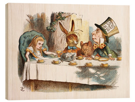 Wood print  Alice in Wonderland - John Tenniel