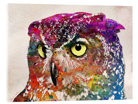 Acrylic print  owl drowing - Mark Ashkenazi