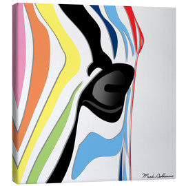 Canvas print  zebra - Mark Ashkenazi