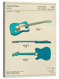 Canvas  Guitar Patent (1951) - Jazzberry Blue