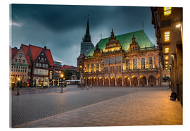 Acrylic print  Bremen Market Square with City Hall - Rainer Ganske