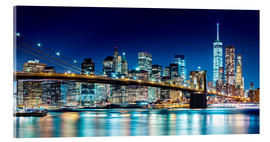 Acrylic print  New York illuminated Skyline - Sascha Kilmer