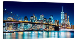 Canvas print  New York illuminated Skyline - Sascha Kilmer