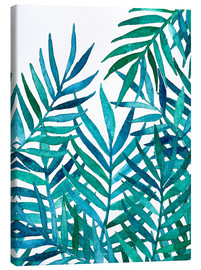 Canvas  Watercolor Palm Leaves on White - Micklyn Le Feuvre