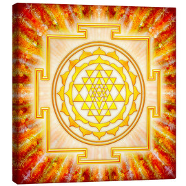 Canvas  Sri Yantra - Artwork Light - Dirk Czarnota