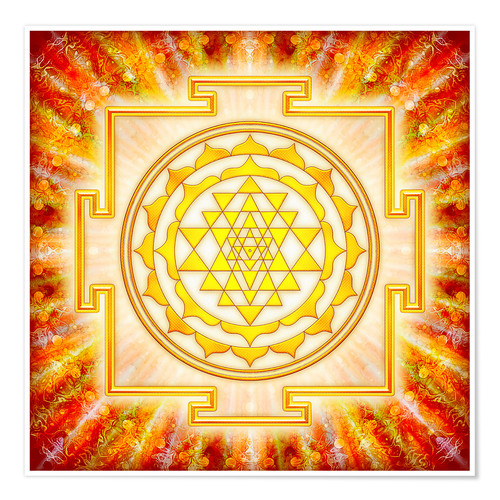 Premium poster Sri Yantra - artwork light